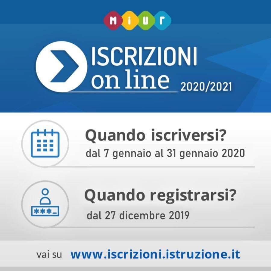 Risultati immagini per iscrizioni on line 2020 2021